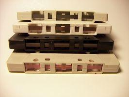 Old Cassette Tapes Det Spol tilbake og Spol fremover, men vil ikke spille