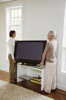 Hvordan legge ved en flatskjerm til en Stand