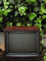 Virkningene av en sterk magnet på en TV-skjerm