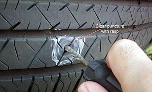 dekk reparasjon gummi