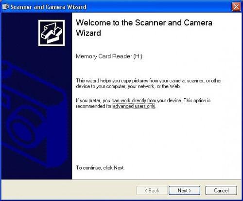 Hvordan bruke Windows skanner og kamera veiviseren