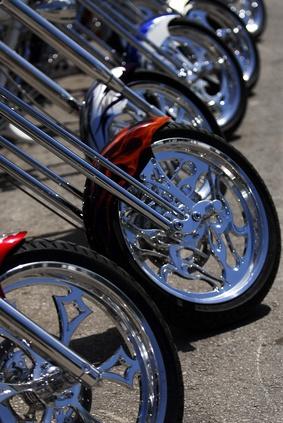 Fordelene med aluminium hjul Over Wire felger på en motorsykkel