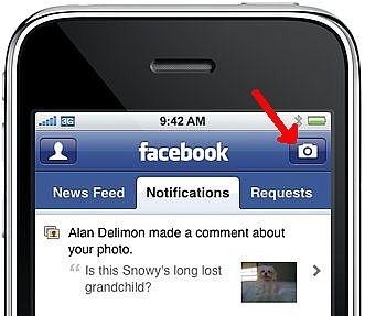 Hvordan laste opp bilder til Facebook fra din iPhone